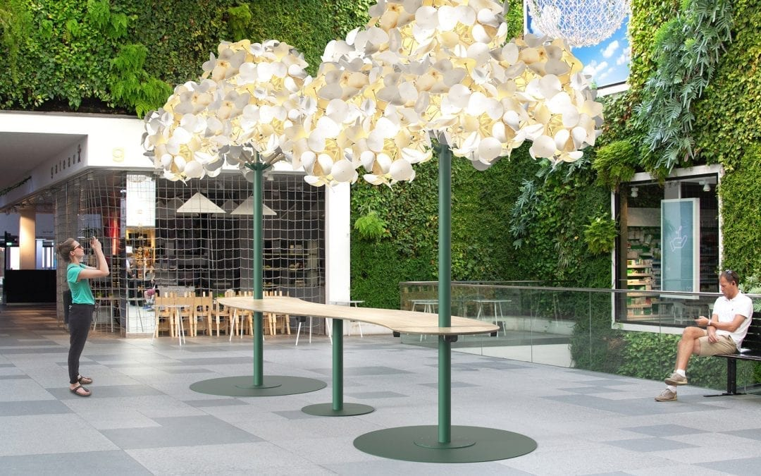 Leaf Lamp Metal Tree from Green Furniture Concept